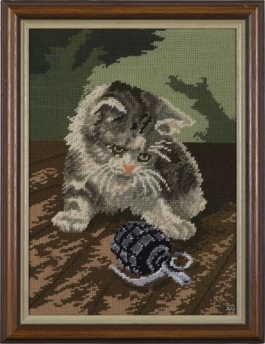 Katze 1 * 2012 * 47 x 36,5 cm