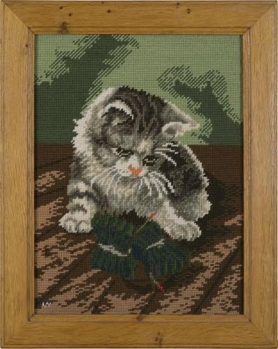 Katze 3 * 2012 * 48,5 x 39 cm