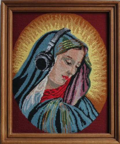 * Madonna hört * 2012 * 58 x 48 cm